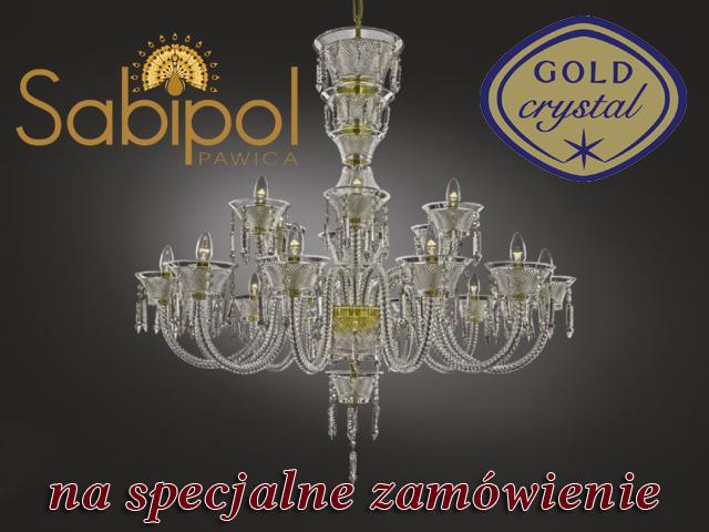 Żyrandole Gold Crystal
